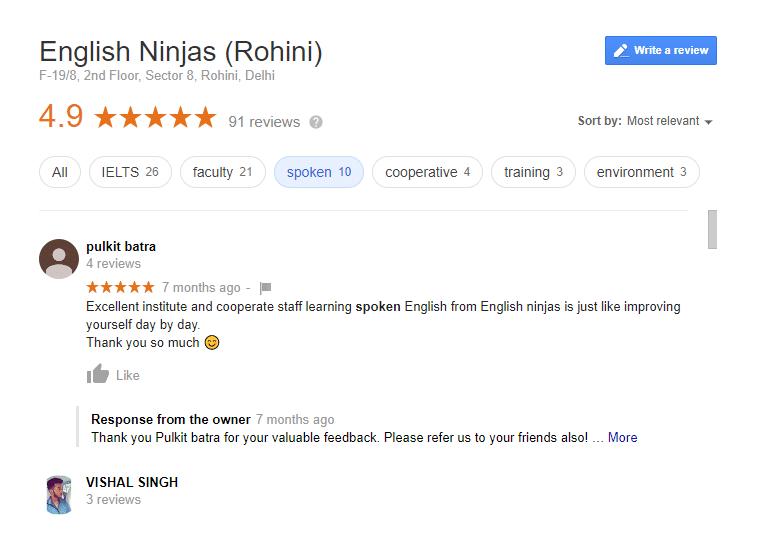 English Ninjas Rohini